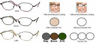 Single Vision Readers with Polycarbonate Aspheric Lenses Style #17