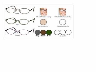 Single Vision Readers with Polycarbonate Aspheric Lenses Style #20