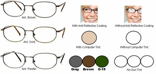 Single Vision Readers with Polycarbonate Aspheric Lenses Style #6