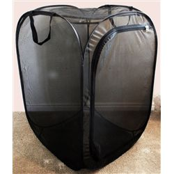 """Butterfly Popup Cage without vinyl window Black 24"""" by 24"""" by 36"""""""