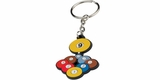 9 Ball Rack of Balls Rubber Key Chain