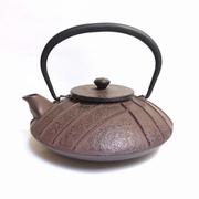 Antique Brown Iron Teapot