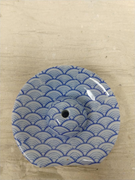 Blue Wave Incense Dish