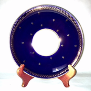Cobalt Blue and Gold Bread Plate