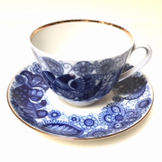 Cobalt Lace Cup and Saucer