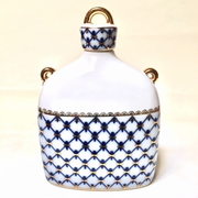 Cobalt Net Sake Bottle