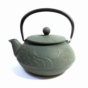 Grey Gold Fish Iron Teapot