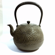 Large Chrysanthemum Iron Teapot