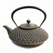 Large Grey Nail Head Iron Teapot