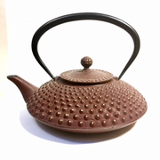Large Maroon Nail Head Teapot