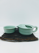 Matte Celadon Tea-For-One