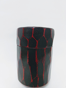 Polished-Lacquered Wood Canister