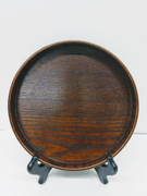 Small Round Wood Tray