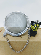Tea Ball with Black Cat