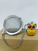 Tea Ball with Owl Ornament