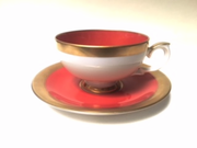 Weimar Porcelain White Cup and Saucer Set