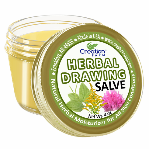 Herbal Drawing Salve Jar 4oz
