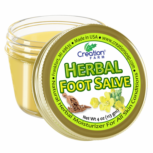 Herbal Foot Salve Jar