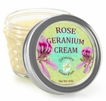Rose Geranium Deep Moisturizer Skin Care Cream 4 oz