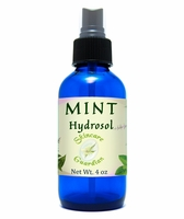 Mint Hydrosol 4oz Cobalt glass bottle
