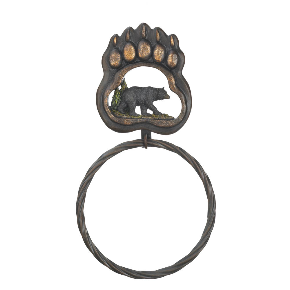 Black Bear Paw TOWEL Ring