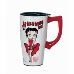All This & Brains Too Betty Boop Travel Mug