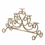 Antiqued Iron Candelabra - 5 Candle Stand