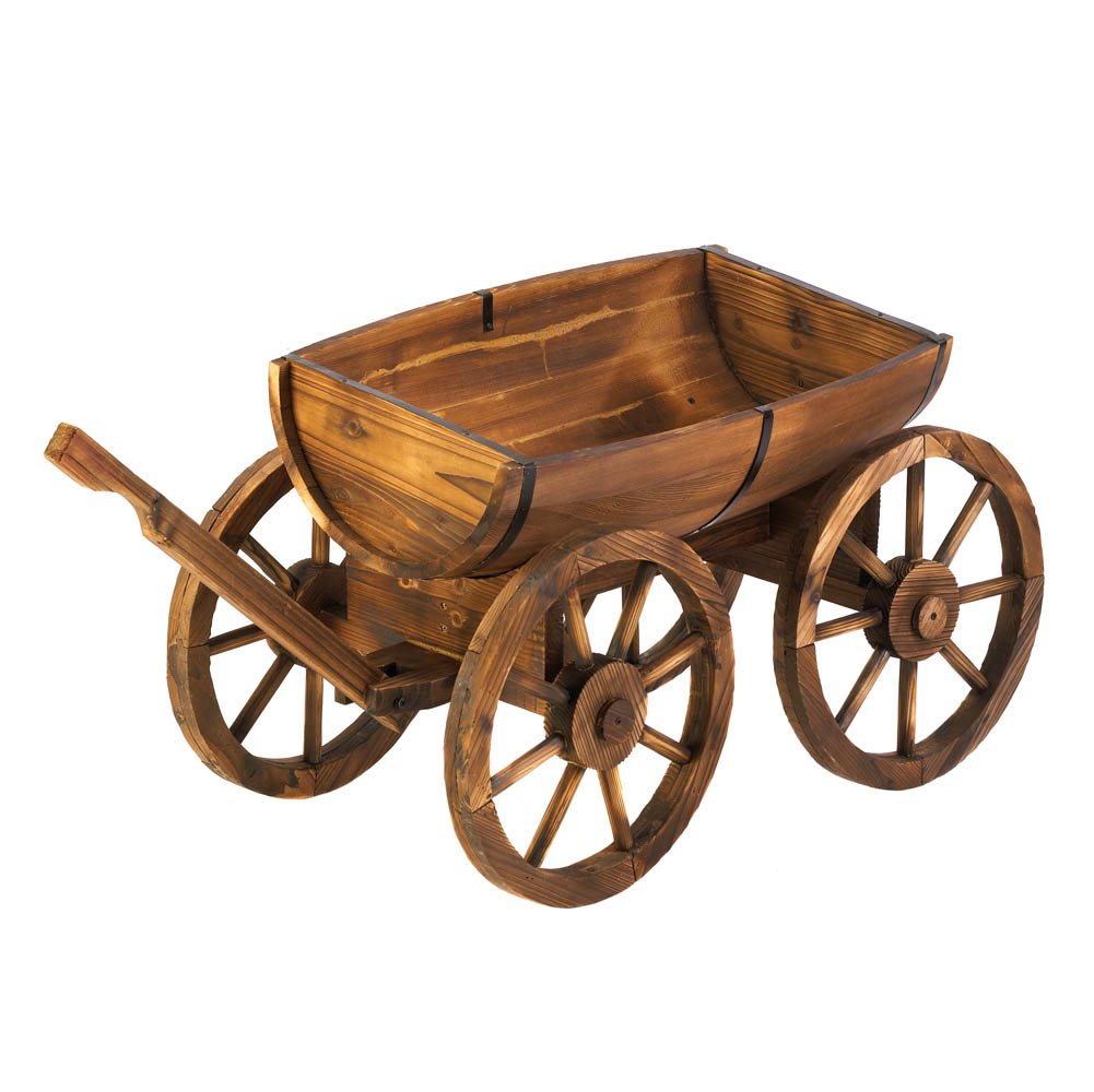 Apple Barrel Planter Wagon Wholesale At Eastwind Wholesale Gift