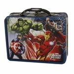 Avengers Assemble Blue Tin Lunch Box