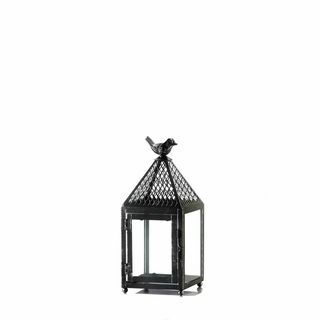 Black Bird Iron Lantern Small