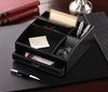 Black Faux Leather Organizer