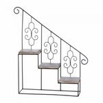 Black Stair Steps Wall Shelf