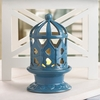 Blue Lantern With LED Candle