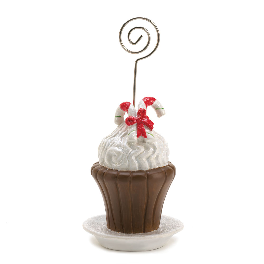 Candy Cane Cupcake Place Card Holder At Eastwind Wholesale Gift