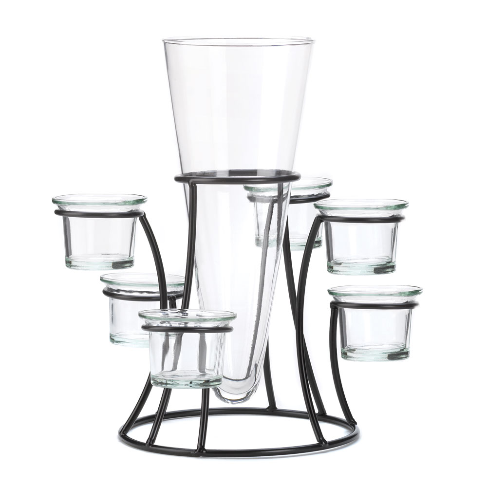 Circular Candle Stand Centerpiece Vase at Eastwind Wholesale Gift ...