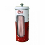 Coke Straw Canister With 50 Straws