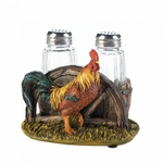 Country Rooster S&P Shakers Holder Set