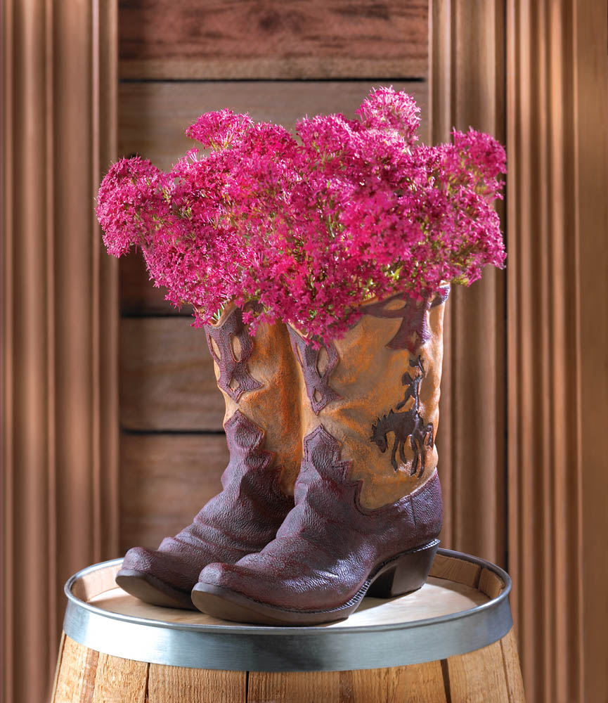 Discount Western Home Decor: Cowboy Boot Planter At Eastwind Wholesale Gift Distributors
