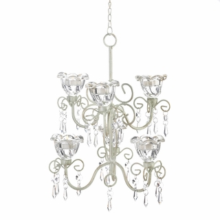 Crystal Blooms Double Chandelier