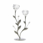 Crystal Flower Duo Candle Holder