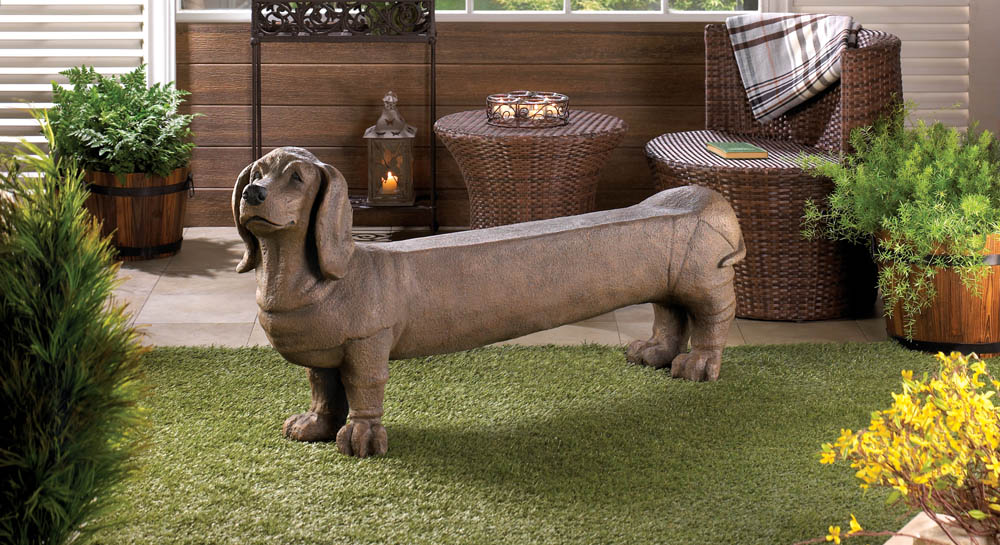 Dachshund Doggy Bench At Eastwind Wholesale Gift Distributors