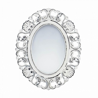 Distressed Scallop Wall Mirror