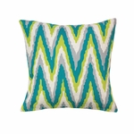 Electric Chevron Throw Pillow