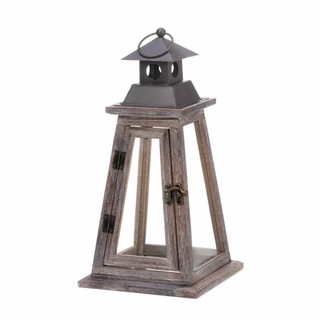 Elevate Wooden Candle Lantern