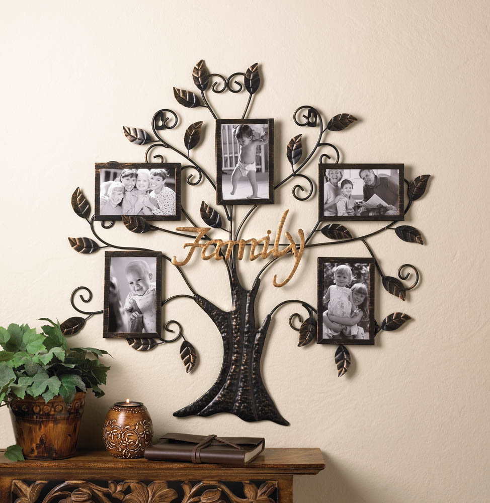 Family Tree Picture Frame Wall Decor - Around Our Home