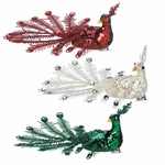 Festive Peacock Ornament Set
