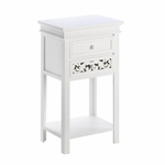 Fleur De Lis Double Drawer Table