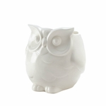 Friendly White Owl Vase