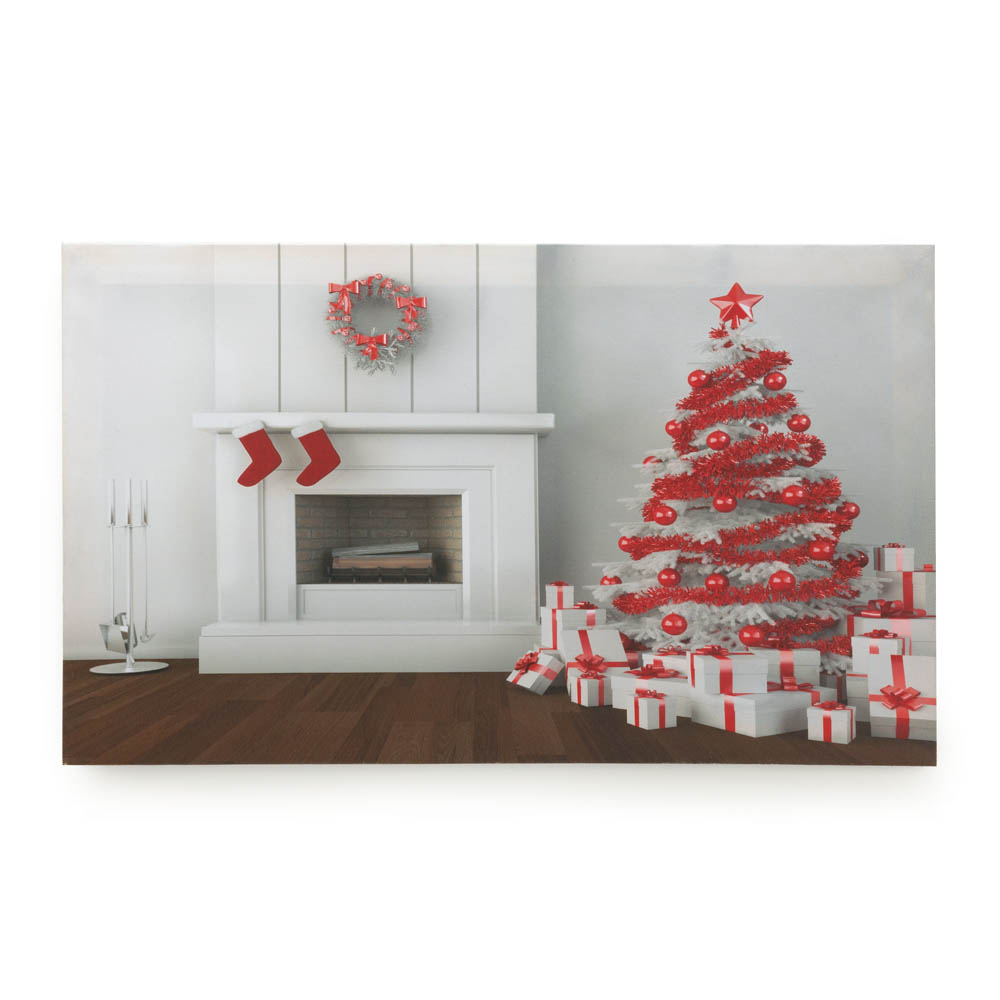 Holiday Fireplace Led Wall Art Wholesale At Eastwind Wholesale Gift Distributors