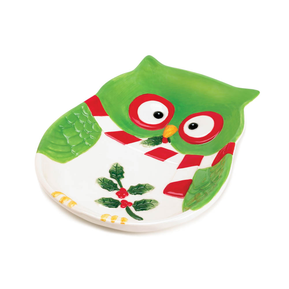 holiday hoot small plate - Wholesale Christmas Decorations Distributors